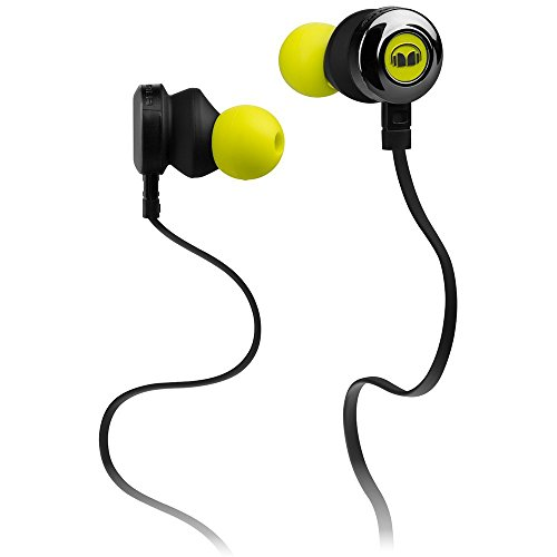 Monster Clarity HD In Ear Earbud Headphones with Microphone - Neon Green