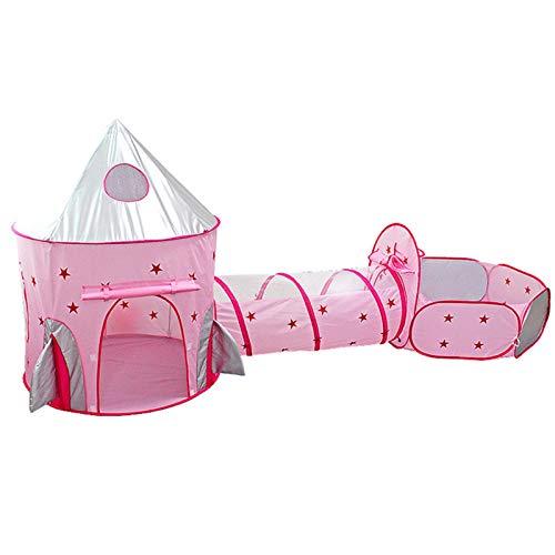Misis Tiendas de campaña para niños Pop Up Tienda de Juegos Plegable con Casita Infantil Tunel Infantil Piscina de Bolas Bolas NO Incluido