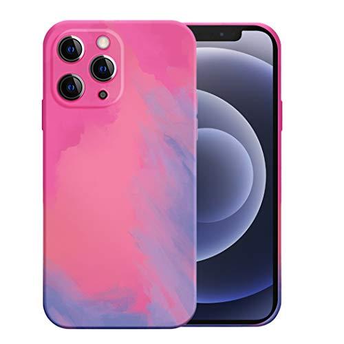 Funda de teléfono móvil compatible con Apple iPhone 12 Pro Max, funda de silicona fina, smartphone iPhone 12 Pro Max, funda líquida, funda suave multicolor (iPhone 12 Pro Max, rosa)