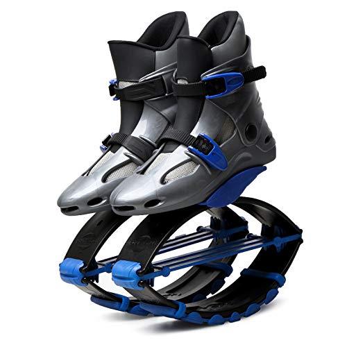 HLDUYIN Unisex Fitness Jump Zapatos Rebote Zapatos Espacio Zapatos Canguro Saltos Jumper, actualizaciones Adolescente Rebote de Deportes Dispositivo de Rebote,Gray2,XL