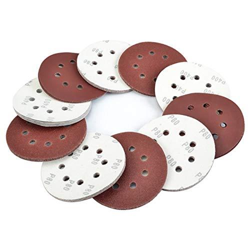 10 discos de lija de grano P40-3000 para lijadora orbital de papel de lija para madera y metal