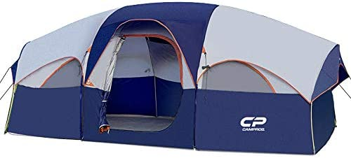 CAMPROS Tent 8 Person Camping Tents Waterproof Windproof Family Tent 5 Large Mesh Windows Double product image