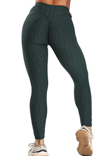 FITTOO Leggings Push Up Mujer Mallas Pantalones Deportivos Alta Cintura Elásticos Yoga Fitness  Verde M