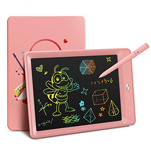 KOKODI LCD Writing Tablet, Drawing Pads with Musician Pattern, 10 Inch Colorful Toddler Doodle Board Drawing Tablet, Educational and Learning Toy for 3-6 Years Old Boy and Girls (Pink)