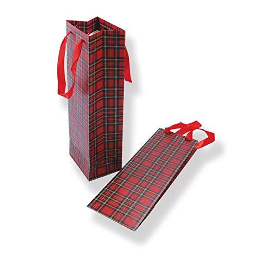 Royal Stewart Paper Bottle Gift Bag