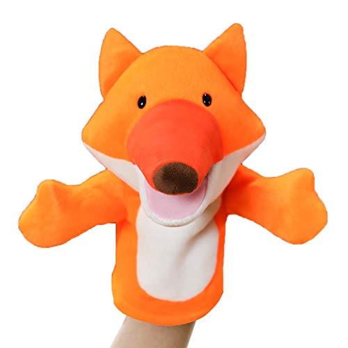 Marionetas animales Fox marioneta de mano suave y divertido muñeco de peluche muñeca de juguete-narración, la enseñanza preescolar y juegos de rol de los niños marioneta de mano, cumpleaños y regalos