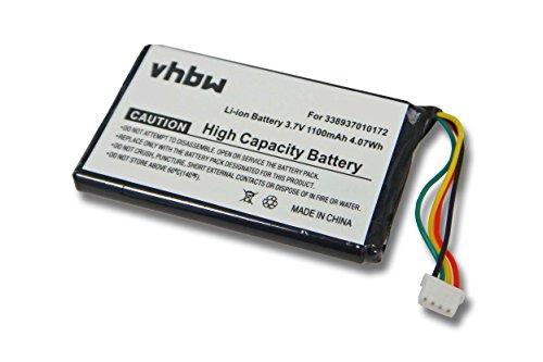 vhbw Li-Ion Akku 1100mAh (3.7V) für Navigation, GPS Medion Gopal E4125, P4225, P4425, P4225 M5, MD96536 wie T0052.