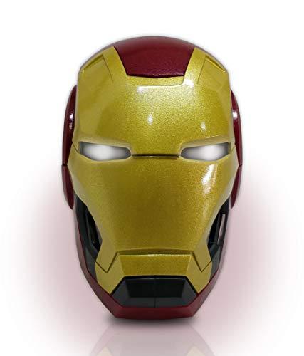 Macmerise Bluetooth Speaker Ironman Helmet Funk Limited Edition Super Stereo HD Sound Hands Free Calling Iron Man Tony Stark Marvel Comics