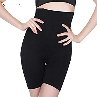 Davina Fashions 4-in-1 Shaper - Tummy, Back, Thighs, Hips - Black/Efffective Seamless Tummy Tucker Shapewear Body Shaper Best While/for Gym Yoga Exercise Dance Walk arobics Jogging (Best Fits Upto 32 to 36 Waist Size) Fits Upto- M, L, XL