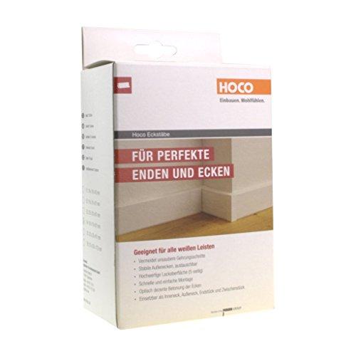 Hoco Eckstäbe, Ecktürme, Innenecken Außenecken aus Holz (lackiert) für weiße Sockelleisten, Inhalt: 15 Stück E3 (M)