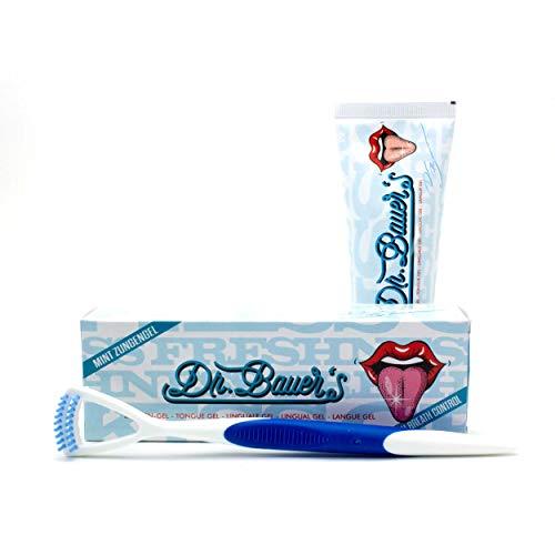 Dr. Bauer´s Zungengel - Tung-Gel Minze 75ml SET Zungengel + Zungenreiniger