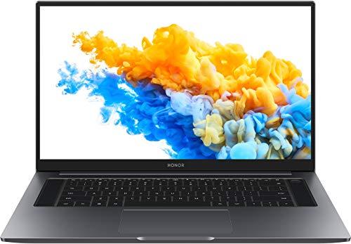 HONOR MagicBook Pro Laptop, 40,9 cm (16,1 Zoll), Full HD IPS, 256 GB PCIe SSD, 8 GB RAM, AMD Ryzen 5 4600H, Fingerabdrucksensor, Deutsches QWERTZ-Layout, Windows 10 Home - Space Grey