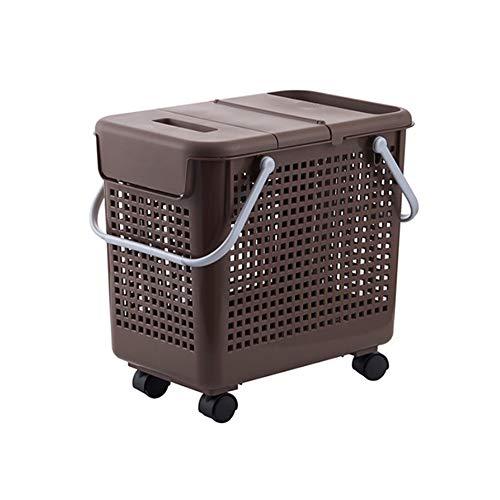 Laundry Basket Canasta de lavandería Canasta de lavandería de plástico para el hogar Canasta de Almacenamiento de desechos de Juguete Fuerte ventilación Resistente al Desgaste y a Prueba de Humedad