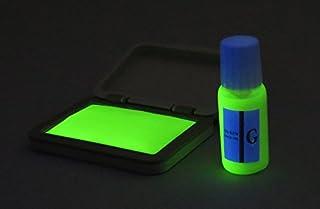 再入場スタンプ 緑色(ブラックライトインク) と 日亜化学工業 UV-LED(375nm)ブラックライトキーホルダー付 チケット確認 偽造防止
