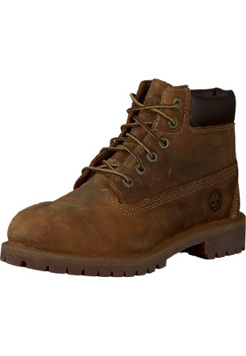 "Timberland Authentic 6"" – Botas para Niños, Marrón (Brown Smooth), 30.5 EU"