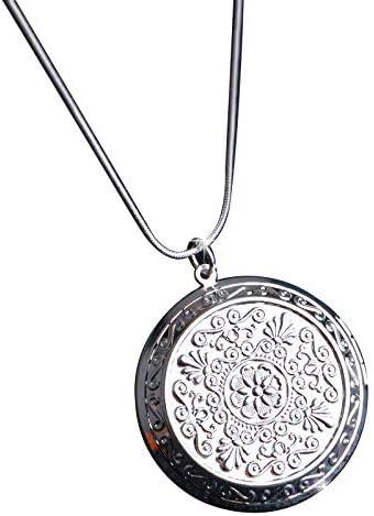 Silver Photo Locket Pendant Dedication Image Oval Necklace Round Love Fashion Heart