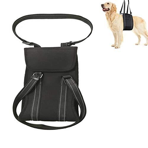 Arnés de elevación para perro, arnés de elevación para mascotas, chaleco con banda reflectante ajustable para levantamiento de cadera para perros mayores, lesiones en las articulaciones y artritis