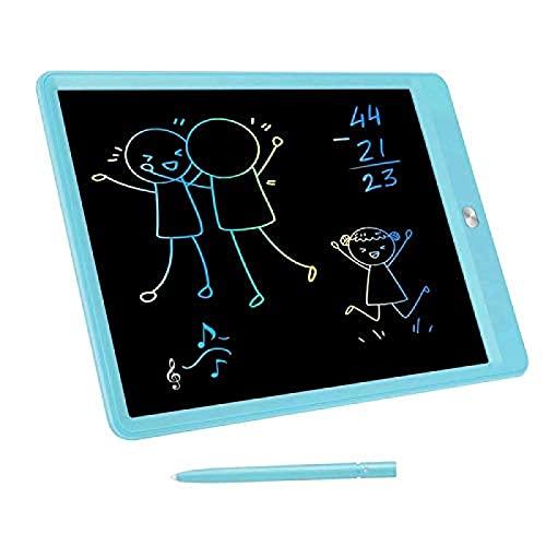 Tablero de escritura multifuncional de 10 pulgadas digital de dibujo portátil y borrable, adecuado para niños y adultos para dibujar imágenes (azul)