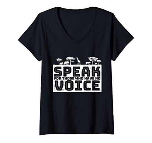 Damen Sich gegen Tierquälerei aussprechen Stimmlos Keine Stimme T-Shirt mit...