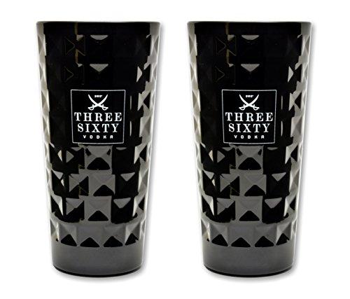 Three Sixty Vodka Black 2 Stück Longdrink Gläser 0,3l