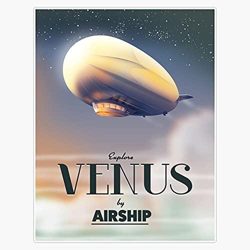"STG Trading Explore Venus by Airship Vinyl Bumper Sticker Decal Waterproof 5"""