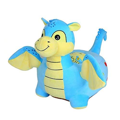 NXYJD Sofá infantil de dibujos animados, asiento pequeño, juguetes de montar de peluche, sillas de tatami, regalos de cumpleaños para niños y niñas (color: azul)