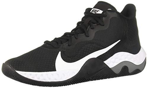 Nike Renew Elevate Mens Basketball Trainers CK2669 Sneakers Shoes (UK 10 US 11 EU 45, Black White Smoke Grey 001)