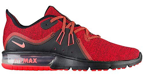 Nike Herren Air Max Sequent 3 Laufschuh, Rot (Black/Total Crimson/University Red), 42 EU