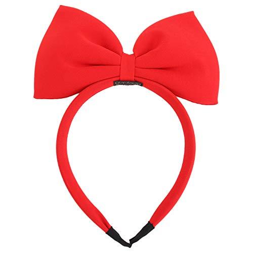 Frcolor Mädchen Haarband mit Schleife, Weihnachts-Haarband, große Schleife, Rot