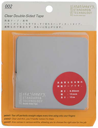 ニトムズSTALOGY 両面テープ 透明15mm幅S1021