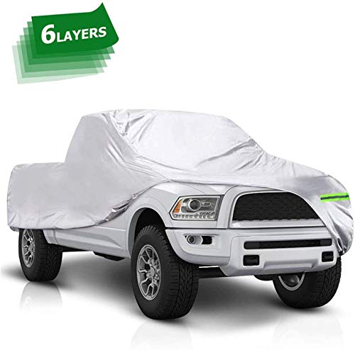 Dripex Truck Car Cover 6 Layers - Waterproof All Weather Car Covers with Cotton Protection for Auto Vehicle Indoor Outdoor for Pickup Truck(625 * 203 * 175 cm)