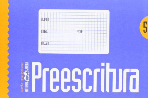 Cuaderno Preescritura Color, 10 cm - Número 5