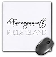 3dRose Mouse Pad American Beaches. Decorative Text Narragansett, Rhode Island - 8 by 8-Inches (mp_290874_1) [並行輸入品]