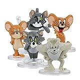 Dibujos animados Tom Jerry Cat And Mouse Mini PVC Figuras Niños Juguetes Muñecas Micro Paisaje Muñeca Decoración Regalos Regalos Regalo de graduación de juguete 2.5 a 6,5 cm