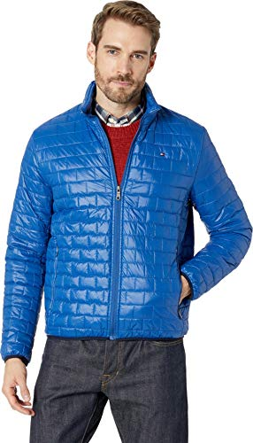 Tommy Hilfiger Men's Ultra Loft Sweaterweight Quilted Packable Jacket, Royal Blue, Large