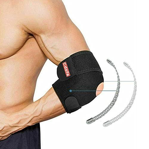 Ellenbogenbandage,Neopren atmungsaktive Ellenbogenbandage mit doppeltem Federstabilisator für Golferellenbogen, Tennisellenbogen,Arthritis,Sportverletzungen,Schmerzlinderung und Unterstützung,Unisex