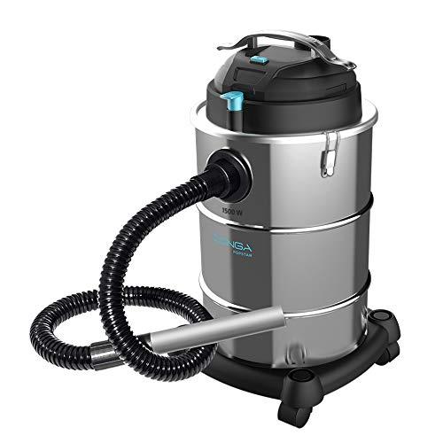Cecotec Aspirador Cenizas Conga Popstar 15300 Ash. Potencia 1500 W, Depósito 30 litros, Boquilla aluminio , Manguera 40 mm diámetro