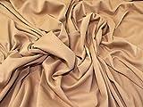 Minerva Crafts Tissu imitation daim élastique au mètre Camel