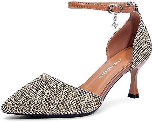 ZQXDMM Sandales, Chaussures Pointues à à à Talons Hauts, été pour Femme (Couleur   A, Taille   37) 9a4