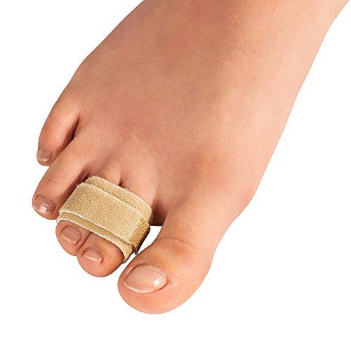 Zehen-Binder, 4 Stk, Fußpflege, Druckstellen, Hühneraugen, Klettverschluss, Zehenkorrigur, verformte Zehen, Polyamid, Elasthan, 9 x 2 cm