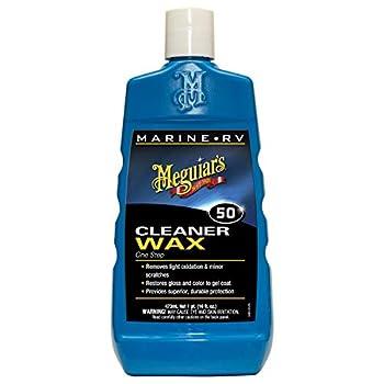 Meguiar s M5016 Marine/RV One Step Cleaner Wax 16 fl oz