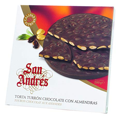 San Andrés Chocolate with Almonds round - Runde Schokoladen-Mandel-Torte, 150 g