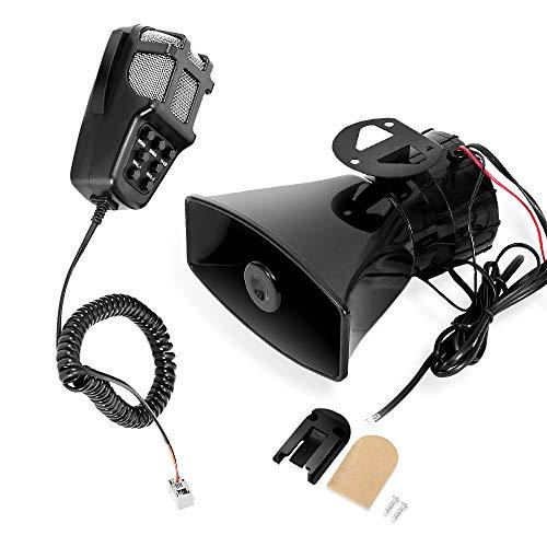 MOTLTECH 100W 12V 7 Tone Sound Car Siren Speaker Mic PA System Emergency Sound Amplifier