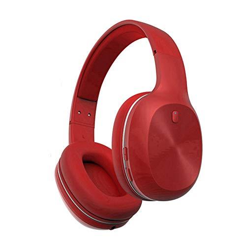 Draadloze bluetooth-headset, gaming computer mobiele telefoon headset sport-running-headset mannen en vrouwen muziek ruisonderdrukking kan de telefoon beantwoorden all-inclusive oor-microfoon (zwart rood wit), rood