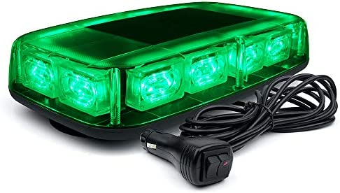 Xprite 12 Green LED Rooftop Mini Strobe Light Bar Magnetic Mount Emergency Safety Warning Caution product image