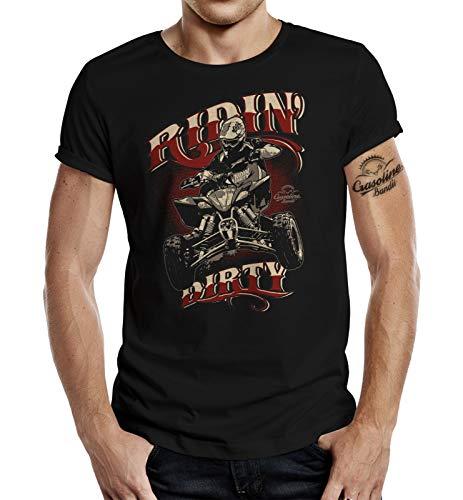 Racer T-Shirt für Quad Fahrer: Riding Dirty XL