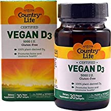 Country Life Vegan D3, 30 Count