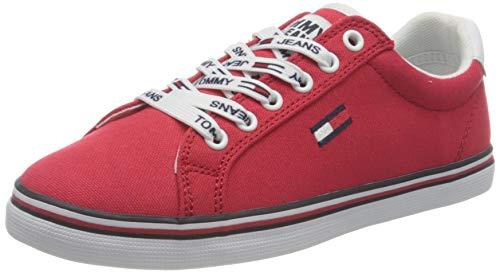Tommy Hilfiger Damen Essential Lace Up Sneaker, Deep Crimson, 37 EU