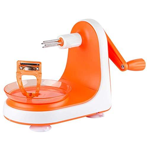 Éplucher Manuellement Les Pommes La Sécurité Portative Ne Blesse Pas Le Couteau Éplucheur D'avion De Main (Orange)