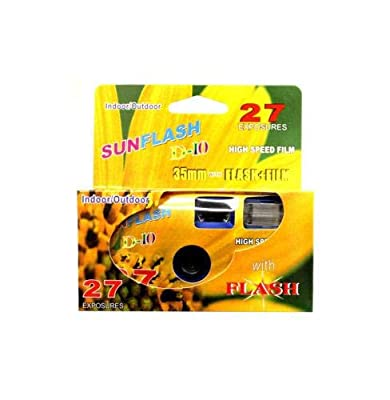 SunFlash Disposable Camera 35mm Film One Time Single Use D-10 Fresh 2020 from FILM WHOLESALE